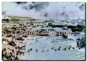 Modern Postcard Unloading in Normandy France the battle rage in 1944 will be ...