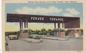 Oklahoma Tulsa Tulsa Entrance To The Turner Turnpike Curteich sk4538