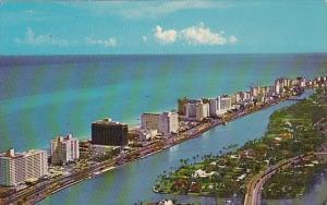 Florida Miami Beach Fabulous Hotel Row Along Indian Creek And Collins Avenue ...