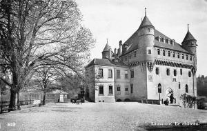 Switzerland Lausanne Le Chateau Castle 1953
