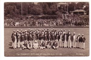 Real Photo, The Canadian Bowlers at Nelson, New Zealand, Photo F N Jones