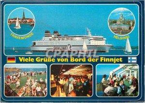 Postcard Modern Finnjet Auto und Passagierfahre Boat