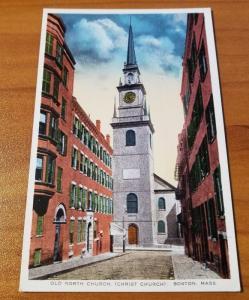 Antique Postcard, Old North Church (Christ Church) Boston, Mass.
