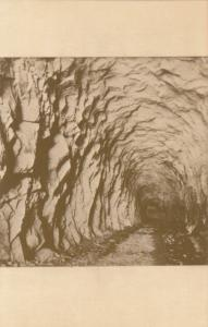 The Summit Tunnel, repro card of old photo, unused Postcard