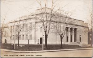 First Church of Christ Scientist Toronto Ontario ON Postcard E36