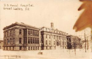 B90/ Great Lakes Illinois Il Real Photo RPPC Postcard c1920 Naval Hospital