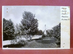 Postcard MD Baltimore Harlem Square Ridgely Monument pre 1908