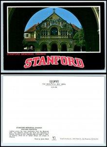 CALIFORNIA Postcard - Palo Alto, Stanford Memorial Church GB