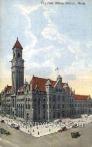 Post Office Detroit MI 1915