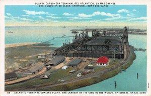 Atlantic Terminal Coaling Plant, Cristobal, Canal Zone, Early Postcard