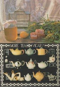 More Tea Than Vicar Party Teapot Budgie Bird Cage Cheese 2x Postcard s
