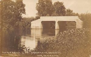 Creene Iowa~The New Twin Arch Bridge~Real Photo Postcard c1914 To Charles~Bier