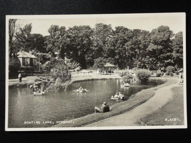 Cornwall: Newquay Boating Lake c1952 RP by Valentine No.K.4081