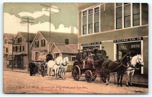 Postcard RI Providence Horse Drawn Fire Engine Company #19 A32