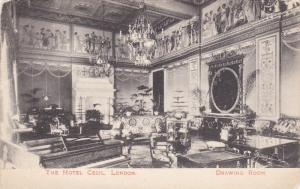 LONDON, England, PU-1924; The Hotel Cecil, Drawing Room