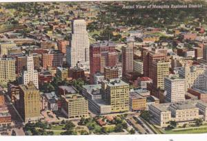 Tennessee Memphis Aerial View Of Business District Curteich