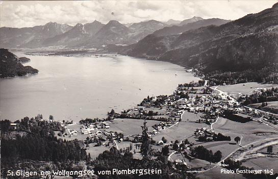 Austria St Gilgen am Wolfgangsee vom Plombergstein Real Photo