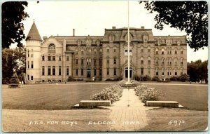 1942 ELDORA, Iowa RPPC Photo Postcard I.T.S. FOR BOYS State Training School