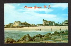NJ Beach front Hotels OCEAN CITY NEW JERSEY Postcard PC