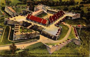 New York Fort Ticonderoga Aerial View Of Fort Ticonderoga Museum 1951 Curteich