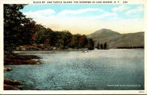 New York Lake George The Narrows With Black Mountain and Turtle Island Curteich