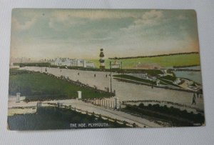 The Hoe, Plymouth - Postcard used 1907 Glittered Postcard Very Rare Clean