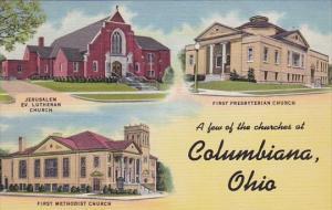 Ohio Columbiana A Few Of The Churches At Columbiana