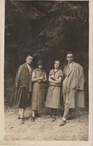 Social history early real photo postcard elegant couples