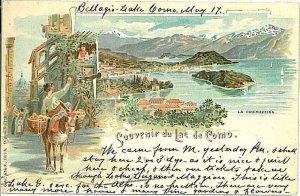 CARTOLINA d'Epoca - LAGO di COMO : Tremezzina: GRUSS AUS 1898