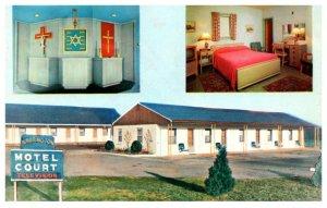 Pennsylvania Neshaminy, Warrington Motel and  Restaurant, Inter-Faith Chapel ...