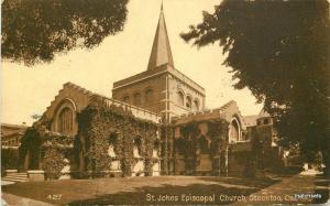1910 Stockton California St John's Episcopal Church postcard 10174
