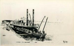 Steamship F.Y. Bachelor, Eastern Illustrated, RPPC