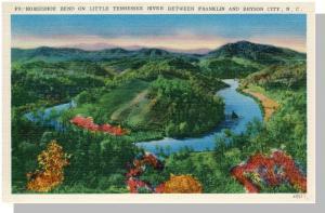 Franklin/Bryson City, NC Postcard, Horseshoe Bend,Near Mint!