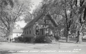 C70/ Oconto Wisconsin Wi Postcard Photo RPPC c50s First Church Christ Scientist
