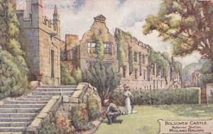 Gardener At Bolsover Castle Station Midlands Railway Postcard