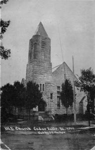 Cedar Falls Iowa~Methodist Episcopal Church~1911 CU Williams (JE Baker) Postcard