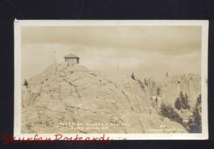 RPPC BLACK HILLS SOURTH DAKOTA HARNEY PEAK RANGER STATION REAL PHOTO POSTCARD