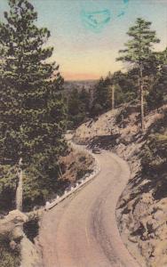 Highway To Idylwild Resorts Near San Jacinto California Handcolored Albertype