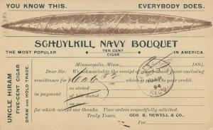 MINNEAPOLIS, Minnesota, 1864 ; Uncle Hiram 5-cent Cigar