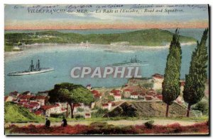 Old Postcard Villefranche sur mer The bay and the Yacht & # 39escadre
