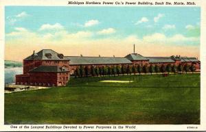 Michigan Sault Ste Marie Michigan Northern Power Company's Power Buildin...