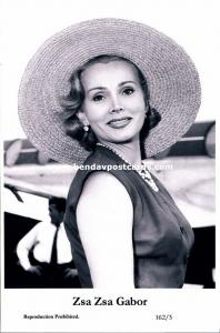 Jewish Actress ZSA ZSA GABOR, Sári Gábor, Judaica (2000 Reproduction)