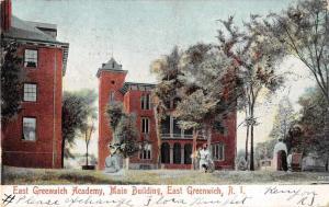 East Greenwich Rhode Island East Greenwish Academy Main Building Postcard J52929