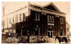 MIchagan  Decatur , Town Hall, Sign Patton's Sun-Proof Paints,  RPC