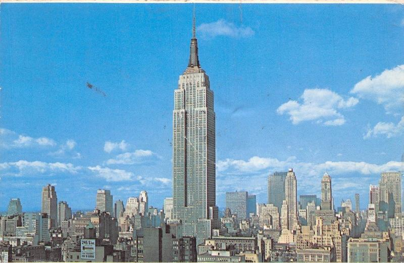 Usa Empire State Building New York City Tallest Structure In The