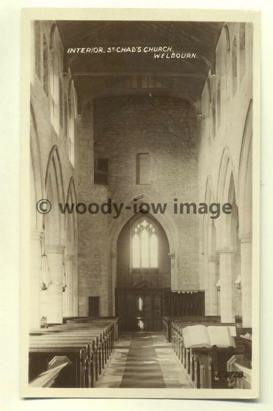 cu1324 - St Chad's Church , Welbourn , Lincolnshire - postcard