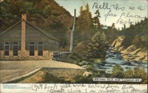 Ellenville NY Honk Falls & Bldg c1905 Postcard