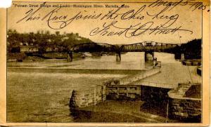 OH - Marietta. Putnam Street Bridge and Locks, Muskingum River