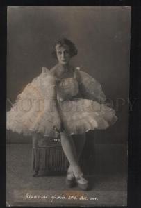 101988 Elena LUKOM Russian BALLET Star DANCER Vintage PHOTO