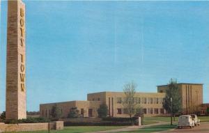 Boys Town NE~Art Deco US Post Office~Admin Building~1940s Postcard
